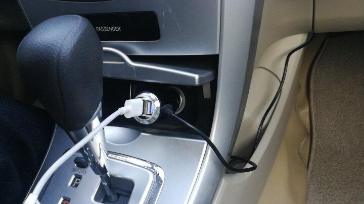 捷渡凌度行车记录仪车充3.5米 GPS导航仪充电器T形口电源线带USB口记录仪充电器配件 晒单图