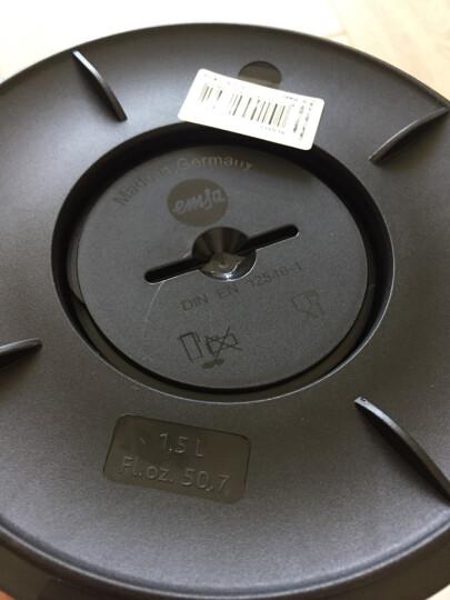 德国原装进口 爱慕莎(emsa)304不锈钢内胆真空保温壶/保温瓶/热水瓶/保温水壶 索菲特SOFT GRIP 1.5L 紫色 晒单图