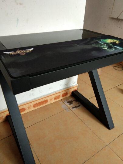 宏悦 钢化玻璃电脑桌台式家用办公桌 简易学习书桌写字台 Z型桌 白面配白腿-无键盘托 长80*宽60*高75无键盘托 晒单图