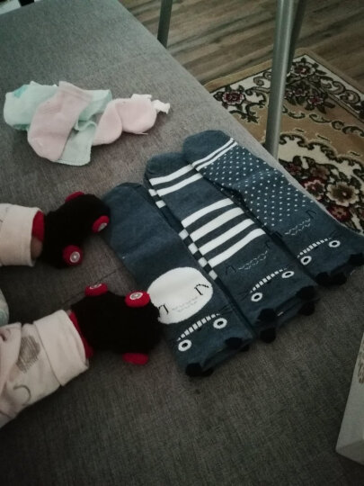 【5双装】JEENH 春秋袜儿童袜子男女童袜棉袜0-7岁短袜 薄棉猴子款 推荐脚长13-15cm 晒单图