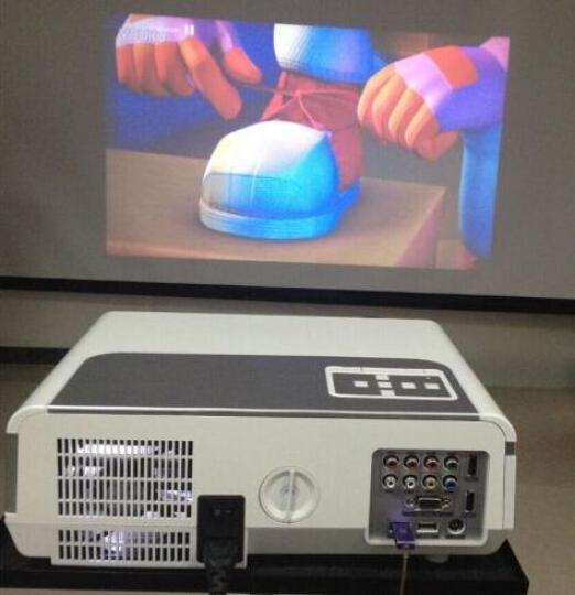 轰天炮 LED86 投影仪家用高清1080P投影机智能办公手机无线wifi 3D投影仪 LED-86智能安卓 晒单图