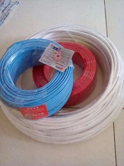 朝阳电线电缆阻燃ZR-BVVB护套线二芯/三芯电源线国标铜芯 2芯4平方50米 晒单图