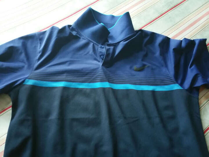 NIKE高尔夫服装男 耐克高尔夫T恤快速排汗短袖针织衫男士 麦克罗伊明星款 蓝色685726-410 L 晒单图