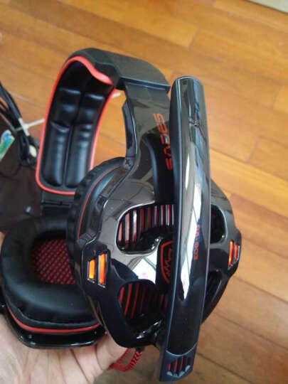 赛德斯(Sades) 附魔暴掠狼 SA-903 头戴式 7.1声道游戏耳机 (黑红) 晒单图