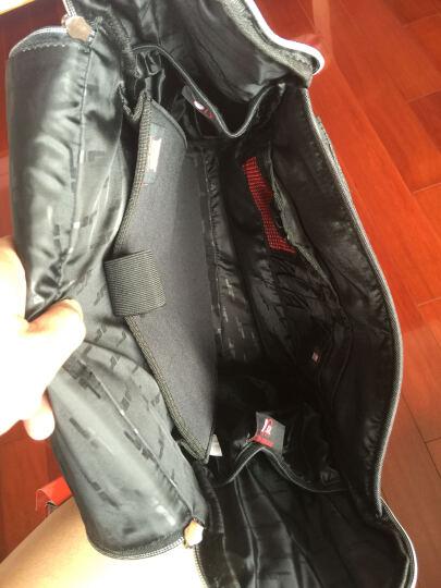 Jimmy Racin简约时尚双肩包韩版背包16吋电脑包B376DX-BK 黑色 竖款 晒单图