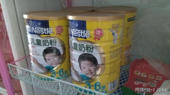 雀巢(Nestle) 儿童奶粉1000g/克(3-6岁适用) 金装4段幼儿配方奶 2罐 晒单图