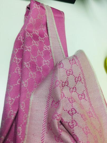GUCCI 古驰围巾明星同款经典双G图案羊毛针织丝巾披肩围巾 玫粉色 411115 3G200 9272 晒单图