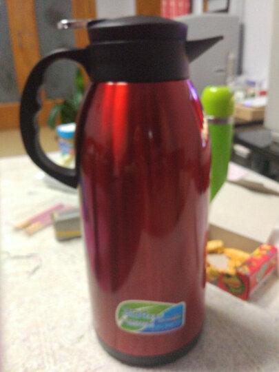 恩尔美(NRMEi) 保温壶家用暖壶保温瓶大容量欧式咖啡壶不锈钢保温水壶热水瓶暖瓶2L 2500ML桃木红 晒单图