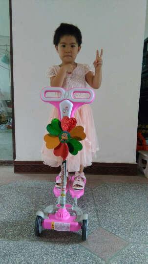 小伯乐滑板车儿童蛙式滑板车四轮闪光双脚踏板摇摆车扭扭车灯光滑行剪刀车 粉色普通轮+升降把 晒单图
