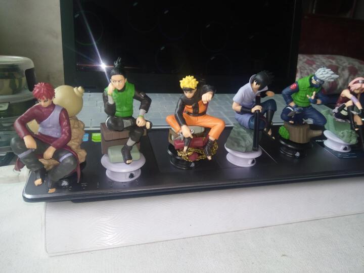 唯米 火影忍者 Q版模型公仔 鸣人卡卡西玩偶汽车饰品摆件全套礼物 火影C加大版(5个) 公仔(含底座) 晒单图