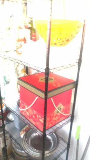溢彩年华 厨房置物架 出口欧美落地储物架子 客厅收纳架移动书架花架家用微波炉架 经典黑 DKI2-172M 晒单图