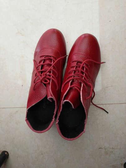 娇百惠广场舞鞋跳舞鞋秋 女式增高健身爵士鞋 透气现代舞蹈鞋真皮 黑色加绒 38 晒单图