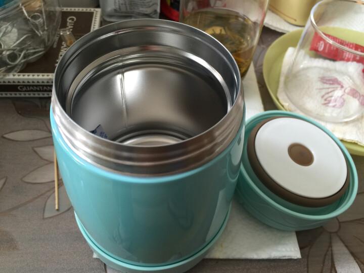 慕厨(Momscook) 焖烧罐焖烧杯304不锈钢保温饭盒真空防漏防溢焖烧壶500ml 粉蓝色 晒单图