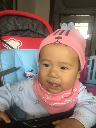 贝迪牛(badynoo) 婴儿帽子夏季新生儿宝宝胎帽室内空调护头卤门儿童全棉套头帽三角巾 粉色小猪单帽+三角巾 均码 0-10个月 晒单图