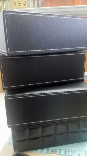 享乐居 皮质纸巾盒收纳盒家用办公室纸巾盒 黑羊皮纹小号 晒单图