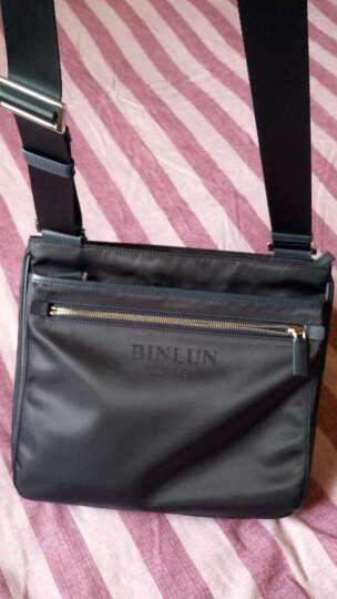 宾伦BINLUN 男包单肩包斜挎包男士休闲尼龙布包ipad包 BL0251 蓝色 大号 晒单图