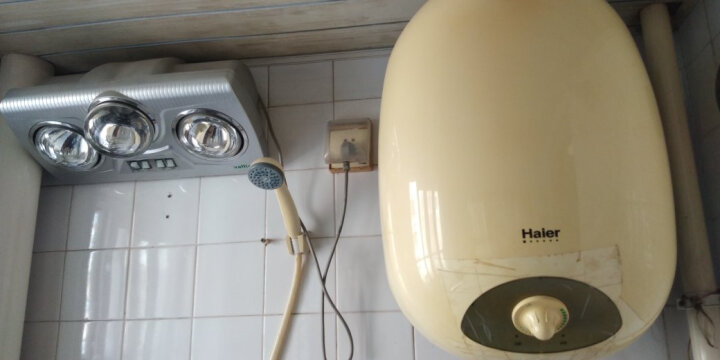 海尔(Haier)家用竖立式 竖式储水式 电热水器 U1系列40/50/60L 变频 热水器 ES50V-U1(E)/50L 晒单图