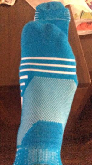 珍行足衣 精英专业中筒篮球袜高筒袜运动袜子男加厚低帮跑步袜毛巾袜 中筒红(41-44码) 晒单图