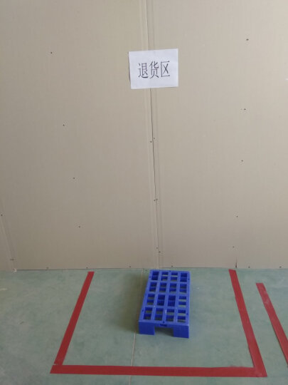塑料垫板防潮板网格组合式垫仓板仓库平板托盘地台板小货架垫脚板 F10050加厚蓝色(100*50*5cm) 晒单图