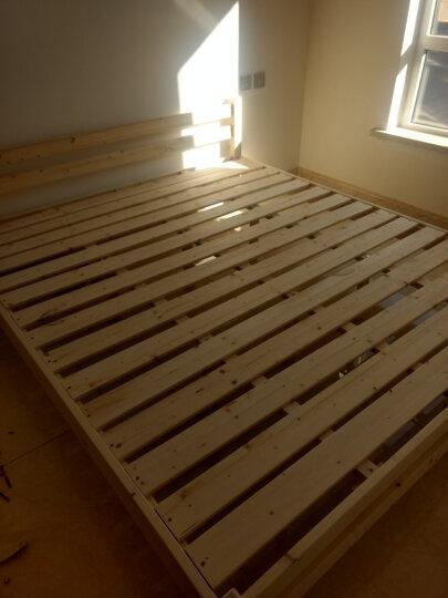 靖缘雅居 实木床 床 双人单人床1.8米大床1.2米松木床1米松木家具1.5米 原木色无油漆无抽屉加8CM3E防螨3E椰梦维床垫 1.5*2米卖家推荐 晒单图