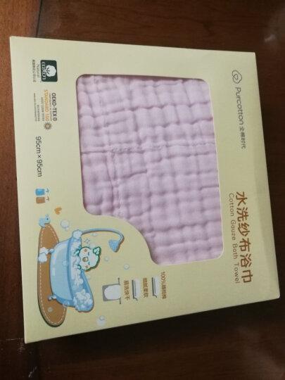 全棉时代 新生儿纱布浴巾水洗浴巾毛巾 6层 95*95cm 粉色 1条/盒 晒单图