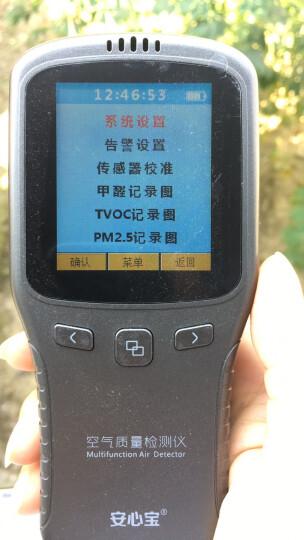 安心宝甲醛检测仪 家用pm2.5检测仪 雾霾表pm2 5激光测试仪 室内测甲醛仪器 晒单图