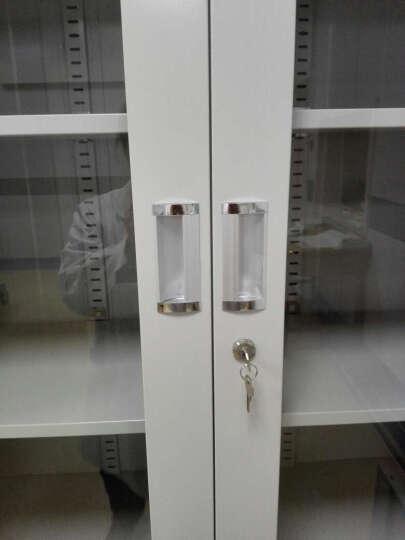 天桥文件柜系列TQ-019上大下小办公对开玻璃文件柜 办公文件柜 钢制文件柜 铁皮柜资料柜 晒单图
