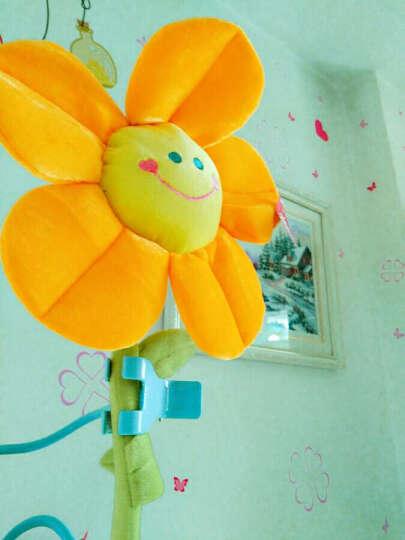 玛格丽特 毛绒玩具玫瑰花 太阳花 创意卡通花朵 窗帘绑花装饰 桔色 仿真太阳花85厘米 晒单图