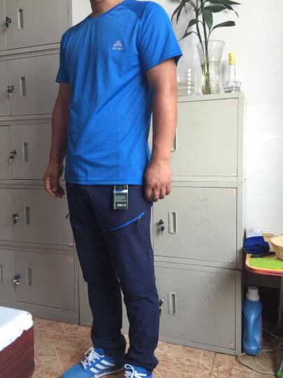 崖虎(YAWHO) 户外速干衣裤套装男夏季新款弹力速干裤薄款快干吸湿透气登山裤 深蓝/深蓝 XL 晒单图