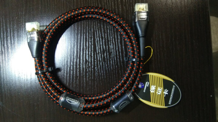 秋叶原(CHOSEAL)镀银HDMI数字高清线发烧级2.0电视电脑投影仪机顶盒游戏机连接线1.5米 DH800-1.5M 晒单图