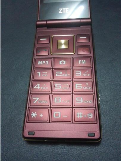 上海中兴 ZTE tech 守护宝 L518 移动/联通2G 翻盖老人手机 深海蓝 晒单图
