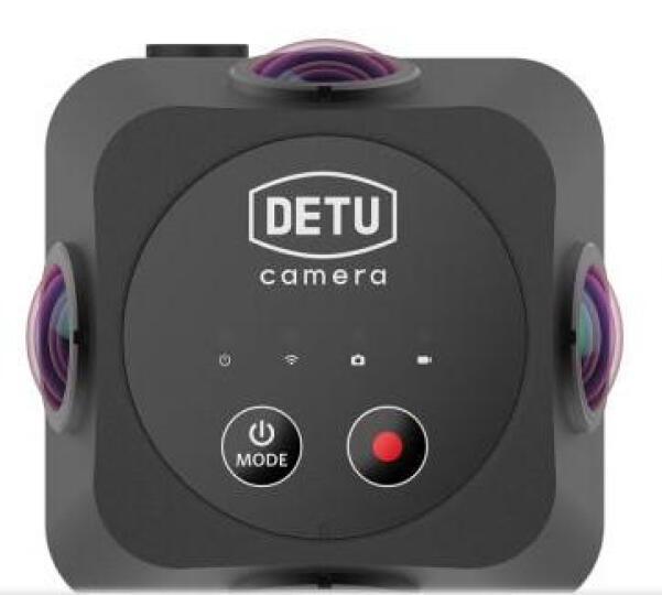 得图Detu F4 全景相机360度VR商用3D摄像机 6K画质一键拼接 傻瓜式操控直播 黑色 晒单图