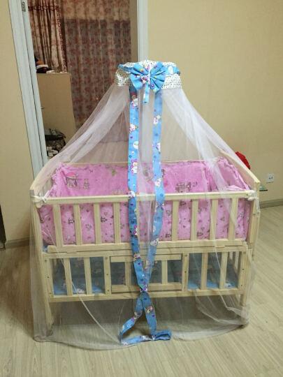 kindbear康贝儿 环保实木无油漆婴儿床 宝宝摇篮床 带画板学习型童床 多功能BB床 床+蚊帐+六件套 米奇乐园 晒单图