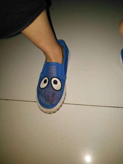 蜡笔小新 儿童凉鞋女童凉鞋夏季透气男童网鞋2018新款学生沙滩鞋潮洞洞鞋 浅蓝色 32 晒单图