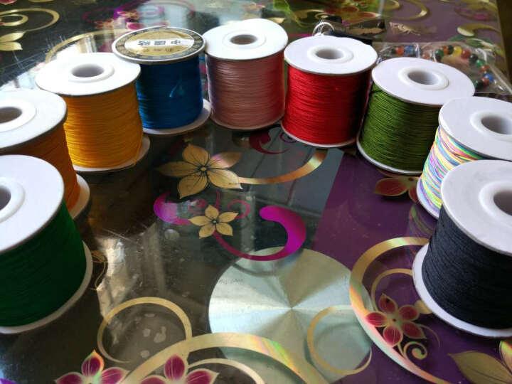 懂爱 玉线DIY饰品配件红绳线72号玉线120米长大卷编织线绳长 10七彩色 晒单图