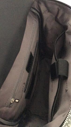派保爵pabojoe男包真皮双肩包男潮男书包韩版鳄鱼纹头层牛皮电脑背包时尚复古旅行包3688 咖色 晒单图
