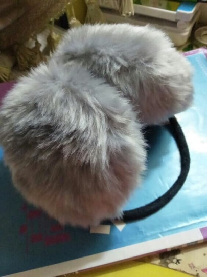 迪伊克(Dijk)保暖耳罩 韩版新款超萌仿兔毛户外防风耳套 灰色 晒单图