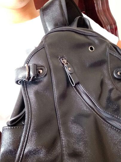 裂狼(LIELANG)双肩背包男士大容量休闲商务旅行包15.6英寸电脑包时尚韩版学生书包 升级款-USB充电+耳机孔+挂环 晒单图