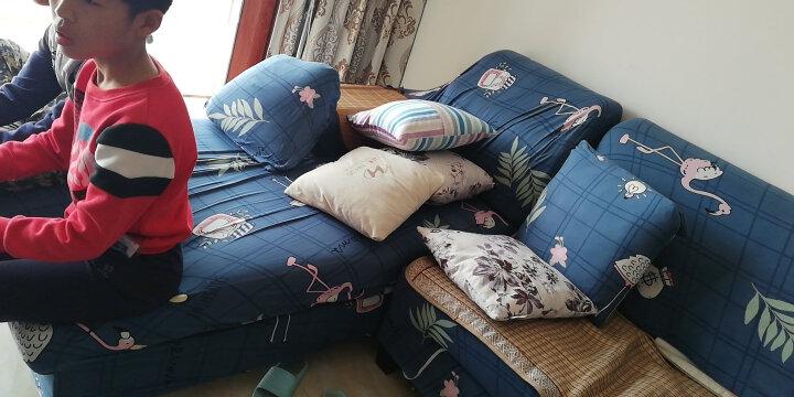 香舍丽人 弹力沙发套罩全包针织布艺防滑老式组合皮沙发组合贵妃沙发盖布套 夏意 常规组合(单人+双人+三人) 晒单图