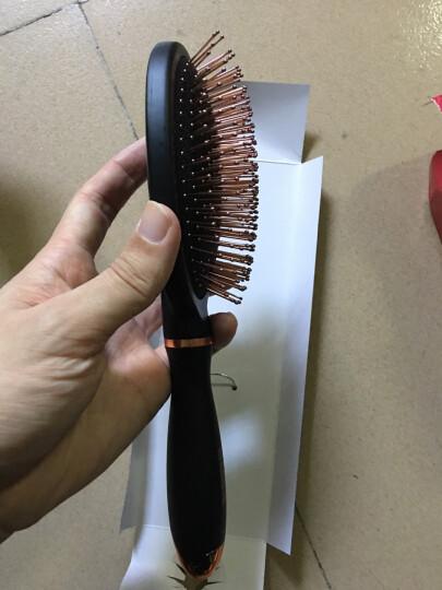 玫姬(MAGGIE)梳子 男女气囊气垫大板 铜针梳齿 时尚造型 30010 铜黑色 晒单图