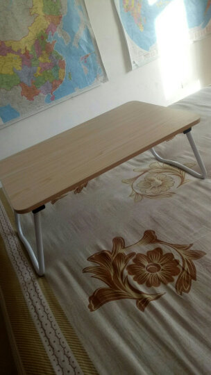 倍方电脑桌W腿白枫木 简易笔记本电脑桌 床上用宿舍懒人桌 简约可折叠学习书桌 家用小餐桌 家用榻榻米小桌 晒单图
