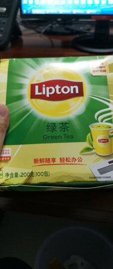 立顿Lipton  绿茶 茶叶 办公室下午茶 袋泡茶包 独立纸包 2g*80 晒单图