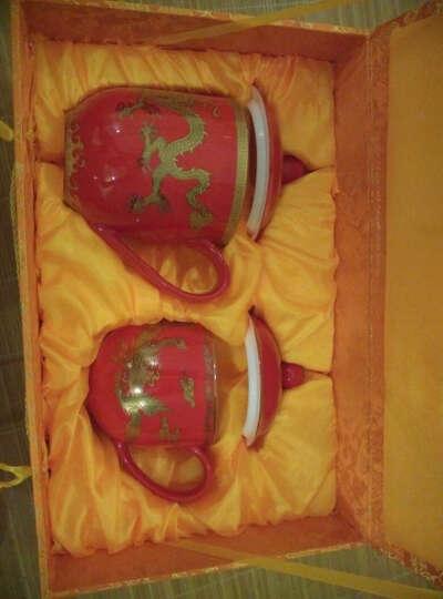 锦唐窑 茶杯陶瓷 中国红瓷龙凤情侣对杯 新婚礼物实用送女友送男友婚庆回赠礼品送新人送闺蜜 黄瓷龙凤将军杯贵妃杯对杯 晒单图