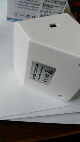 MOOV USB2.0分线器 HUB转换器 otg转接头 桌面拓展集线器高速多功能读卡器 黑色 晒单图