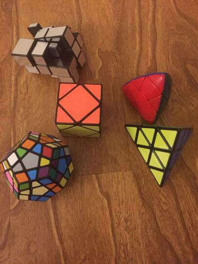 圣手二阶三阶魔方3阶精选异形套装组合礼盒装镜面三角金字塔益智玩具初学者专业顺滑速拧比赛专用 斜转黑色 晒单图
