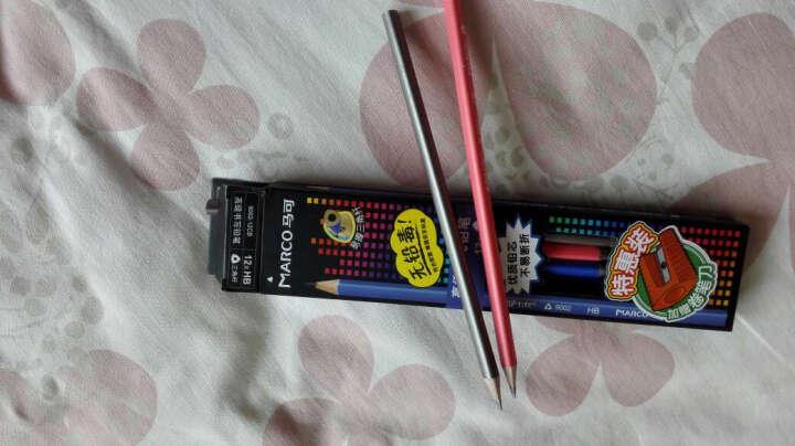 MARCO马可书写学生铅笔文具 原木无铅毒不易断12支装 9002三角2B 晒单图