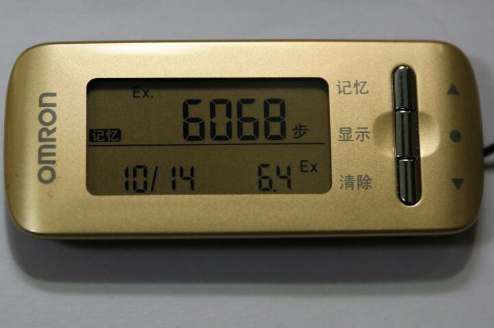 欧姆龙(OMRON) 计步器 卡路里计HJA-310(魅力红) 晒单图