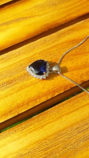 [送女神礼物]高贵气质经典海洋之心套装彩色爱心宝石925银项链女款 蒂卡妮海洋之星银饰吊坠 浅海蓝项链+戒指+耳坠 晒单图