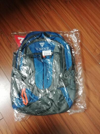 双肩包男女款旅行包大容量户外登山包14/15.6英寸笔记电脑包时尚休闲背包学生书包 【套装 2】双肩包(灰蓝)+折叠背包(黑色) 晒单图
