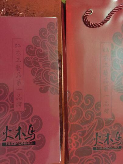 【礼盒+刻字】牛角檀木梳子 生日礼物女生 创意实用礼品送女友老婆 紫罗兰加香槟色镜子 晒单图